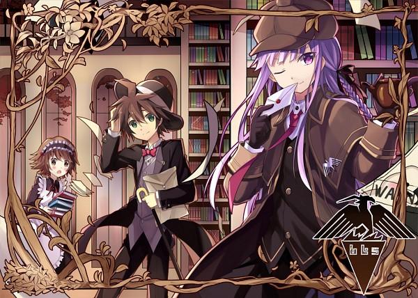 Tags: Anime, Kinoshita Neko, Danganronpa, Kirigiri Kyouko, Fujisaki Chihiro, Naegi Makoto, Detective, Detective Clothes, Detective Hat, Fanart, Fanart From Pixiv, Pixiv