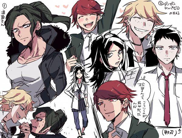 Tags: Anime, Pixiv Id 4211327, Danganronpa 3: The End of Kibougamine Gakuen - Mirai-hen, Danganronpa/Zero, Danganronpa, Sakakura Juuzou, Enoshima Junko, Matsuda Yasuke, Otonashi Ryouko