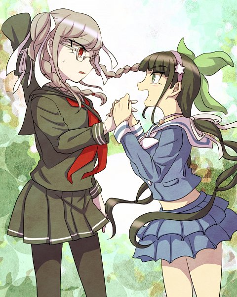 Tags: Anime, Pixiv Id 7105933, New Danganronpa V3, Super Danganronpa 2, Danganronpa, Chabashira Tenko, Pekoyama Peko, Wallpaper