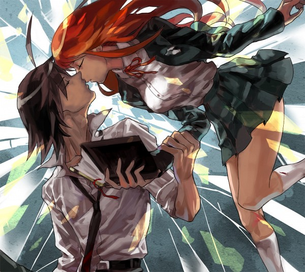 Tags: Anime, Pixiv Id 904540, Danganronpa/Zero, Matsuda Yasuke, Otonashi Ryouko, Pixiv, Fanart, Fanart From Pixiv