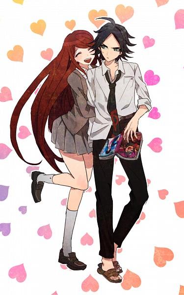 Tags: Anime, Pixiv Id 3082150, Danganronpa/Zero, Matsuda Yasuke, Otonashi Ryouko, Pixiv, Fanart, Mobile Wallpaper, Fanart From Pixiv