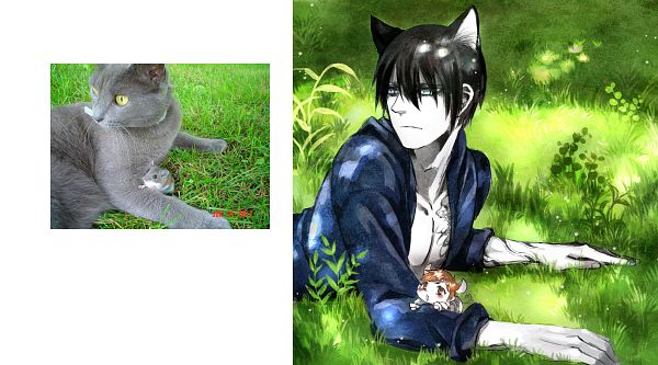 Tags: Anime, Pixiv Id 996647, Daomu, Wu Xie, Kylin Zhang, Hamster, Cat (Personification), Hamster (Personification), Photograph (Source), Facebook Cover, Pixiv, Inspiration By Photo, Original