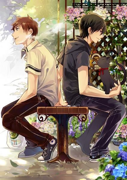 Tags: Anime, Saiyki, Daomu, Wu Xie, Kylin Zhang, Mobile Wallpaper, Pixiv, Original