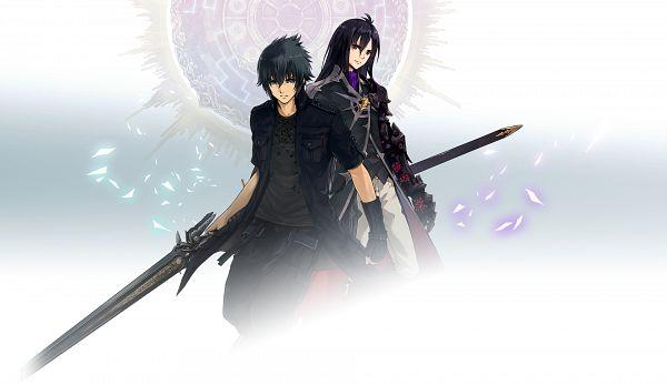 Tags: Anime, Fuji&gumi Games, Dare ga Tame no Alchemist, Final Fantasy XV, Noctis Lucis Caelum, Official Art, Character Request, PNG Conversion, Wallpaper, Artist Request, The Alchemist Code