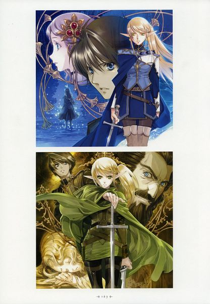 Tags: Anime, Shiina Yuu, Dark Elf no Kuchizuke, Garnet - You Shiina's Illustrations, Official Art, Scan, Kiss Of The Dark Elf