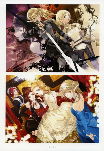 Tags: Anime, Shiina Yuu, Dark Elf no Kuchizuke, Garnet - You Shiina's Illustrations, Mobile Wallpaper, Scan, Official Art, Kiss Of The Dark Elf
