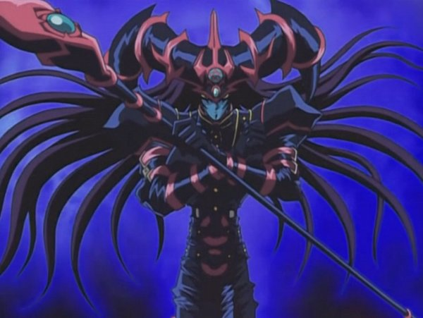 Tags: Anime, Yu-Gi-Oh!, Dark Magician of Chaos, Stitched Screenshot, Screenshot