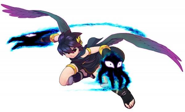 Tags: Anime, Pixiv Id 915163, Kid Icarus, Pit, Dark Pit, Greek Clothes, Metal Claws, Laurel Wreath, Fanart