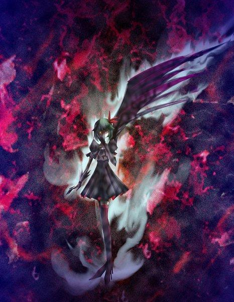 Tags: Anime, Pixiv Id 283179, Heartcatch Precure!, Dark Precure, One Wing, Pixiv, Fanart From Pixiv, Fanart