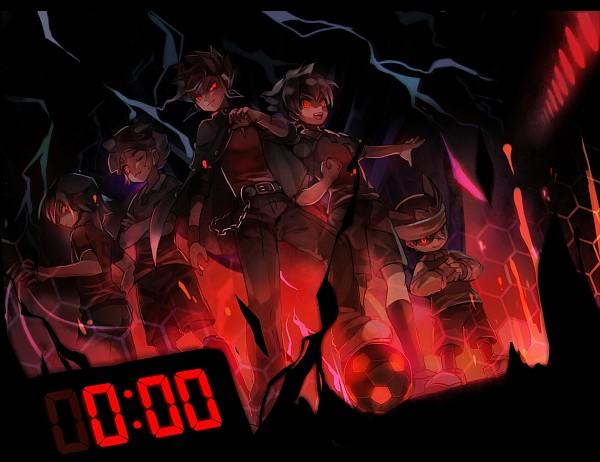 Tags: Anime, Pixiv Id 534010, Inazuma Eleven GO, Inazuma Eleven, Tsurugi Kyousuke, Matsukaze Tenma, Nishizono Shinsuke, Kageyama Hikaru, Kariya Masaki, Dark Raimon, Pixiv, Fanart From Pixiv, Fanart