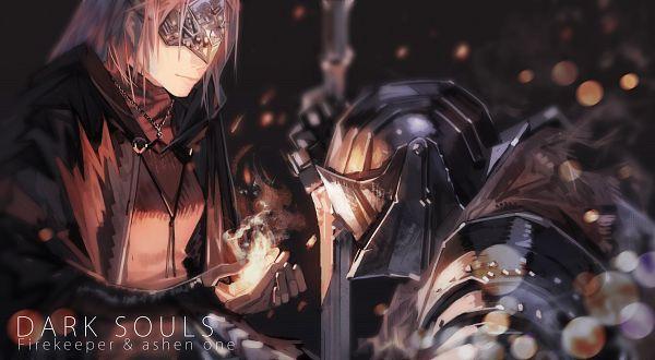 Tags: Anime, Pixiv Id 17283531, Dark Souls, Dark Souls III, Protagonist (Dark Souls), Fire Keeper, Fanart From Pixiv, Pixiv, Fanart