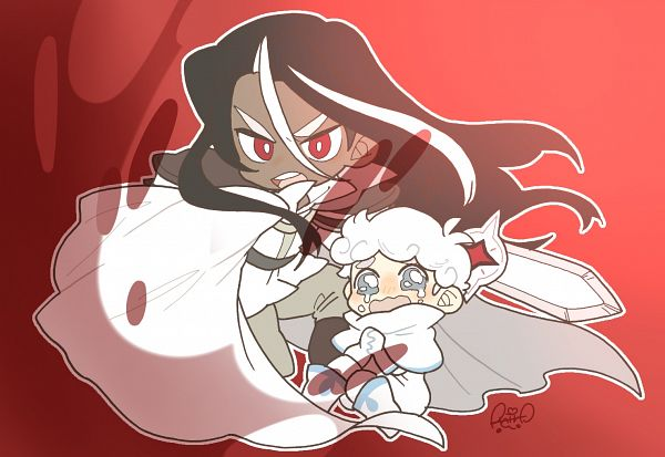 Tags: Anime, Shir0, Cookie Run: OvenBreak, Cookie Run, Dark Choco Cookie, Milk Cookie, Dark Choco Cookie (Young Prince), Fanart From Pixiv, Pixiv, Fanart, DarkMilk
