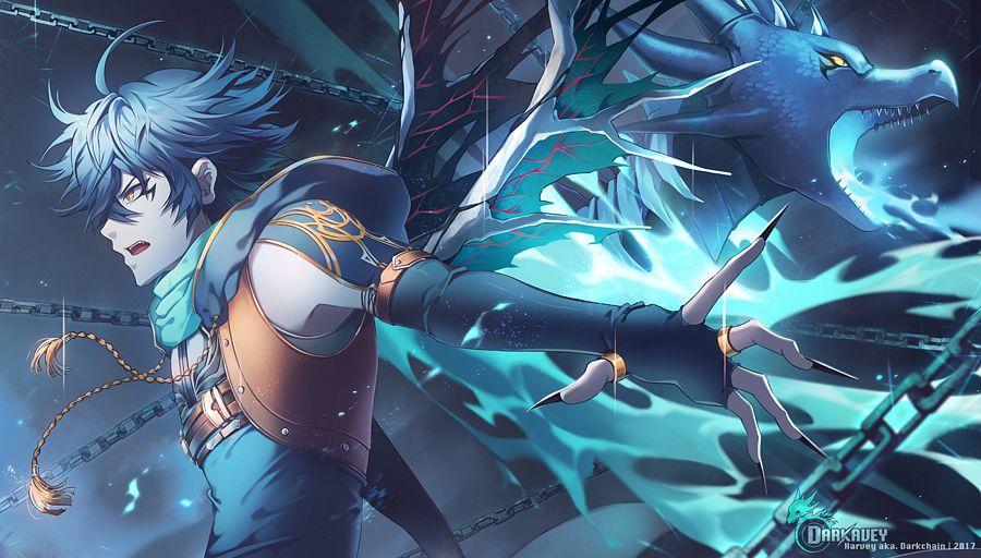 Darkavey image 2261098 zerochan anime image board - Anime boy dragon ...