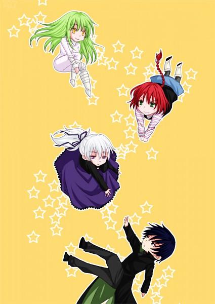 Tags: Anime, Darker than Black, Hei, Yin, Amber, Suou Pavlichenko, Pixiv