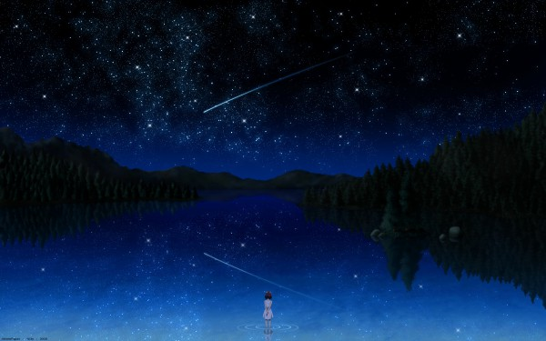 Tags: Anime, Pixiv Id 3141747, Darker than Black, Bai (DtB), Shooting Stars, Wallpaper
