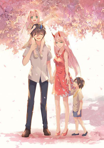 Tags: Anime, Pixiv Id 4021086, Darling in the FranXX, Zero Two (Darling in the FranXX), Hiro (Darling in the FranXX), Fan Character, Fanart From Pixiv, Pixiv, Fanart