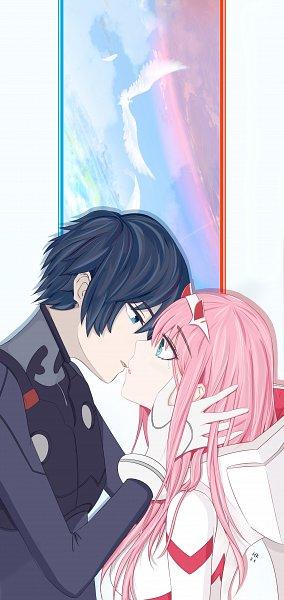 Tags: Anime, Pixiv Id 11008158, Darling in the FranXX, Zero Two (Darling in the FranXX), Hiro (Darling in the FranXX), Fanart From Pixiv, Pixiv, Fanart