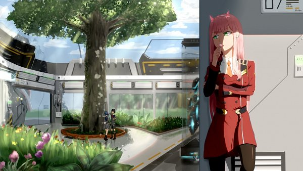 Tags: Anime, Pixiv Id 19355769, Darling in the FranXX, Ichigo (Darling in the FranXX), Zero Two (Darling in the FranXX), Hiro (Darling in the FranXX)