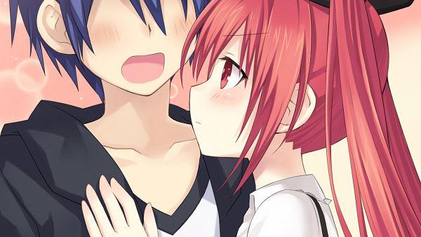 Tags: Anime, Tsunako, Compile Heart, Date A Live, Date A Live: Arusu Install, Itsuka Shidou, Itsuka Kotori, Wallpaper, CG Art