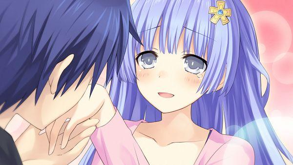 Tags: Anime, Tsunako, Compile Heart, Date A Live, Date A Live: Arusu Install, Itsuka Shidou, Izayoi Miku, Wallpaper, CG Art, Facebook Cover