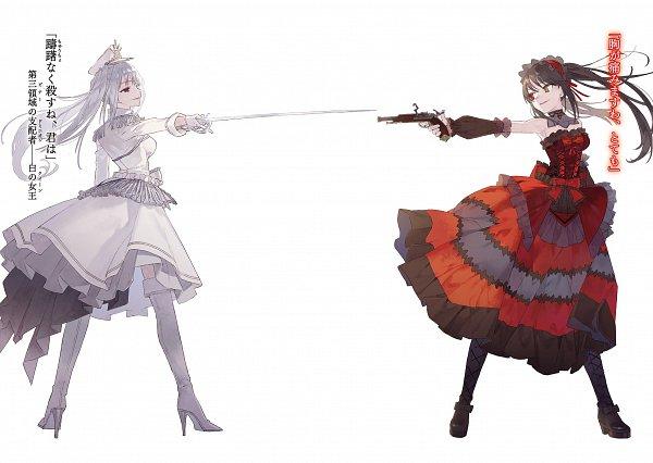 Tags: Anime, NOCO, Date A Live, Date A Bullet, Hibiki Higoromo, Tokisaki Kurumi, Rapier, Novel Illustration, Official Art
