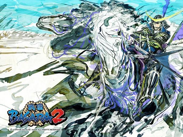 Tags: Anime, Tsuchibayashi Makoto, Capcom, Sengoku Basara, Date Masamune (Sengoku Basara), Official Wallpaper, Wallpaper, Official Art