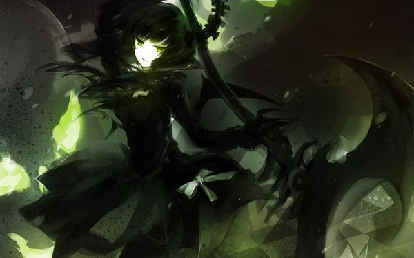 Tags: Anime, I-riya, Black★Rock Shooter, Dead Master, Huge Weapon, PNG Conversion