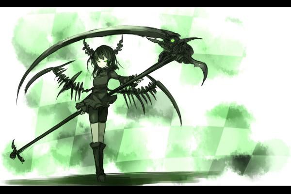 Tags: Anime, Shirogane Usagi, Black★Rock Shooter, Dead Master, Huge Weapon, Pixiv