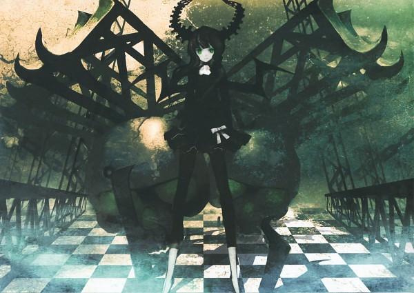 Tags: Anime, Huke, Black★Rock Shooter, Black★Rock Shooter: Visual Works, Dead Master, Leggings, Official Art, Scan