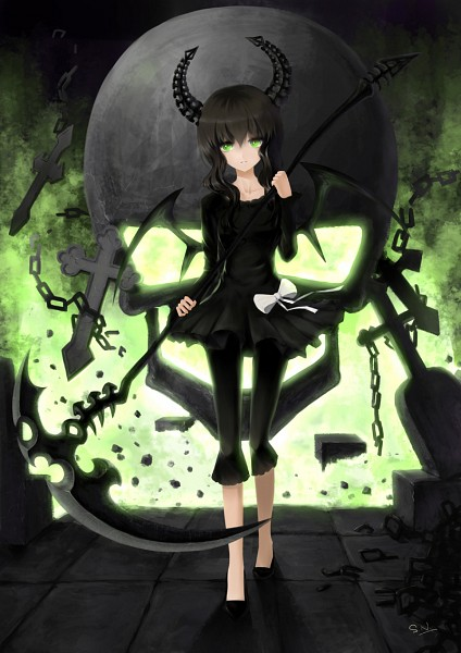 Tags: Anime, Sgtxiaoxin, Black★Rock Shooter, Dead Master, Pixiv, Mobile Wallpaper, Fanart