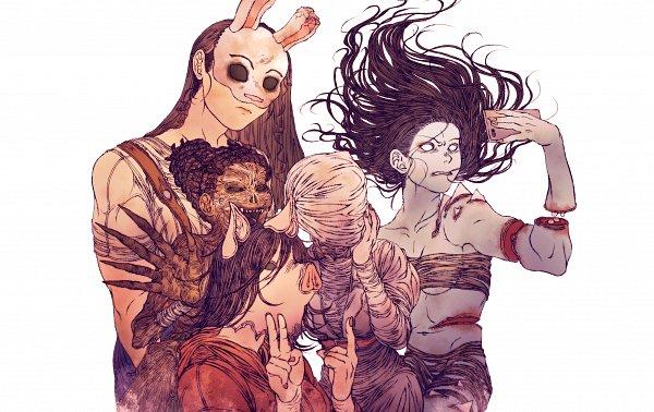 Tags: Anime, Pixiv Id 2431799, Saw (Movie), Dead by Daylight, Lisa Sherwood, Sally Smithson, Anna (Dead By Daylight), Amanda Young, Yamaoka Rin, Butamimi, Pixiv, Fanart, Fanart From Pixiv