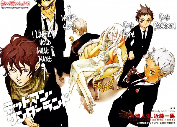 Tags: Anime, Kondou Kazuma, Deadman Wonderland, Senji Kiyomasa, Koshio Karako, Shiro (Deadman Wonderland), Kengamine Nagi, Igarashi Ganta, Takami Yoh, Deadman