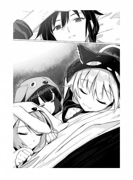 Tags: Anime, Shrimpman, Death March kara Hajimaru Isekai Kyousoukyoku, Tachibana Arisa, Pochi Kishresgalza, Tama Kishresgalza, Suzuki Ichirou, Novel Illustration, Official Art
