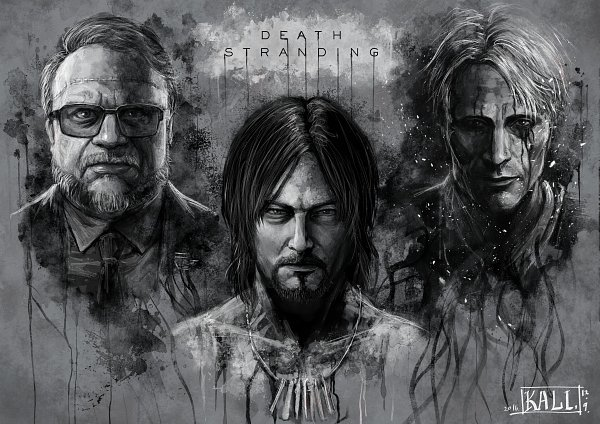 Tags: Anime, Pixiv Id 13676471, Death Stranding, Cliff Unger, Deadman (Death Stranding), Sam (Death Stranding), Pixiv, Fanart, Artist Request