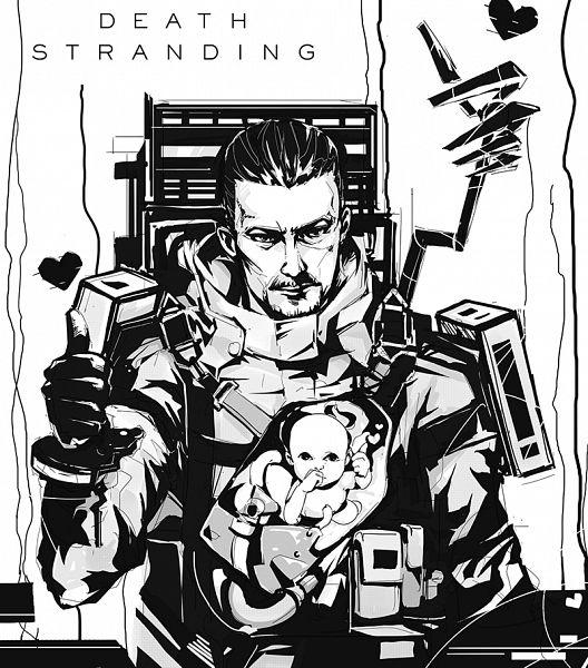 Tags: Anime, Pixiv Id 5170441, Death Stranding, Sam (Death Stranding), Bridge Baby, Toddler, Fanart From Pixiv, Pixiv, Fanart