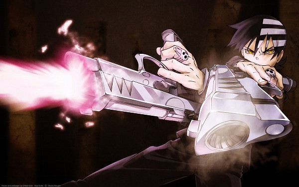 Tags: Anime, SQUARE ENIX, SOUL EATER, Death the Kid, Aiming At Camera, Wallpaper