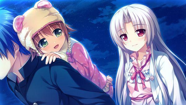 Tags: Anime, Akizora Momiji, Akabei Soft3, Dekinai Watashi ga Kurikaesu, Ousaki Riku, Furukawa Ren, Character Request, Wallpaper, CG Art