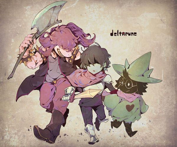 Tags: Anime, Pixiv Id 5154653, Deltarune, Susie (Deltarune), Ralsei, Kris (Deltarune), Purple Pants, Fanart, Fanart From Pixiv, Pixiv
