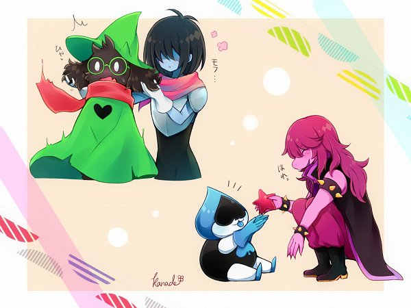 Tags: Anime, Pixiv Id 5281899, Deltarune, Kris (Deltarune), Susie (Deltarune), Lancer (Deltarune), Fanart, Fanart From Pixiv, Pixiv