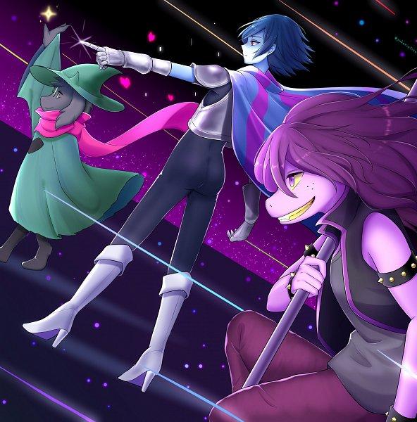 Tags: Anime, Pixiv Id 24070692, Deltarune, Ralsei, Kris (Deltarune), Susie (Deltarune), Fanart, Fanart From Pixiv, Pixiv