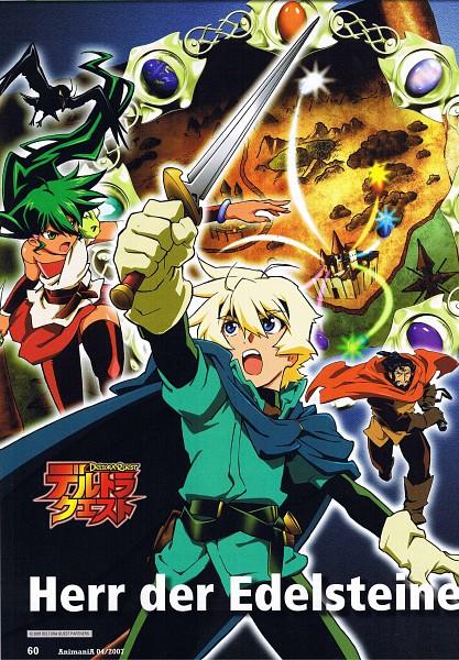 Tags: Anime, Deltora Quest, Jasmine (Deltora Quest), Lief, Barda, Filli, Kree, German Text, Map, Orange Gem, Purple Gem, Sapphire, Opal