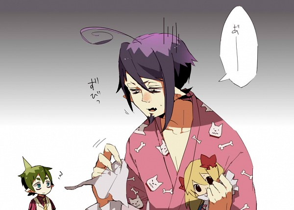 Tags: Anime, Pixiv Id 2005874, Ao no Exorcist, Mephisto Pheles, Amaimon, Sick, Tissue, Observing, Demon Brothers