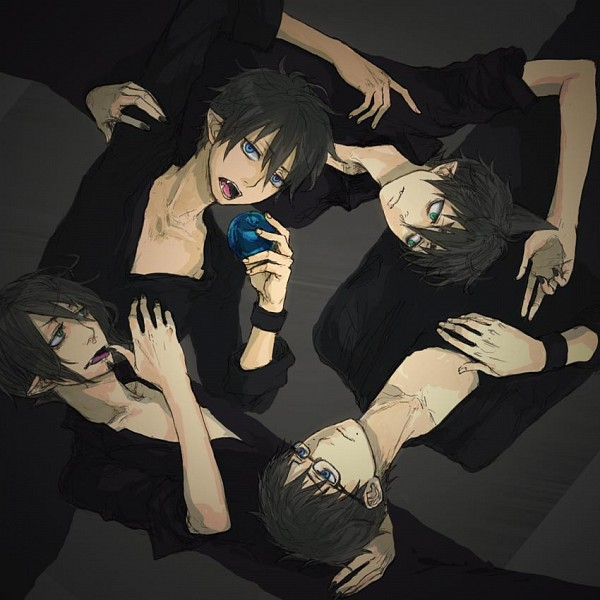 Tags: Anime, 8hachibe, Ao no Exorcist, Amaimon, Okumura Yukio, Okumura Rin, Mephisto Pheles, Head on Chest, Demon Brothers