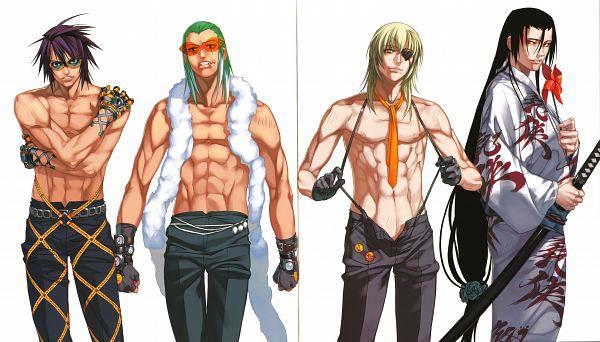 Tags: Anime, Niθ, Nitro+, Demonbane, Master Therion, Daijuuji Kurou, Doctor West, Winfield, Wallpaper, Official Art