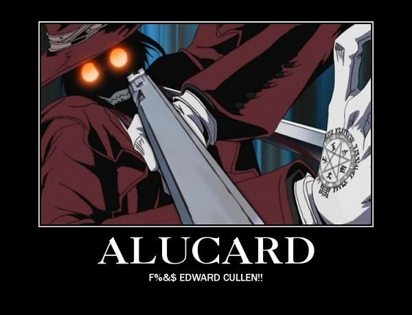 Tags: Anime, Geneon Pioneer, HELLSING, Alucard (Hellsing), Demotivational Poster, Screenshot