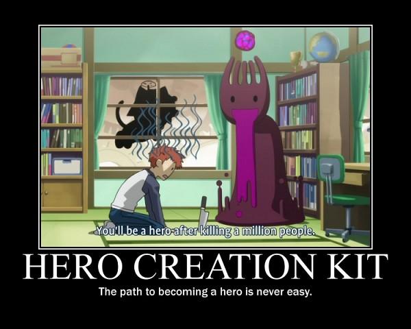 Tags: Anime, TYPE-MOON, Carnival Phantasm, Fate/stay night, Emiya Shirou, Grail-kun, Subtitled, Screenshot, Demotivational Poster