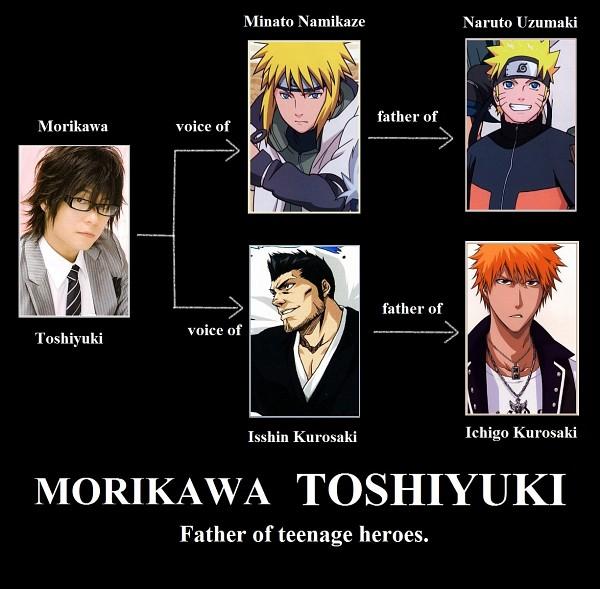 Tags: Anime, NARUTO, BLEACH, Kurosaki Ichigo, Kurosaki Isshin, Namikaze Minato, Uzumaki Naruto, Demotivational Poster, Jinchuuriki
