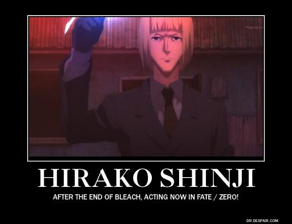 Tags: Anime, TYPE-MOON, Fate/zero, Kara no Kyoukai, Cornelius Alba, BLEACH (Parody), Screenshot, Demotivational Poster, Vizard