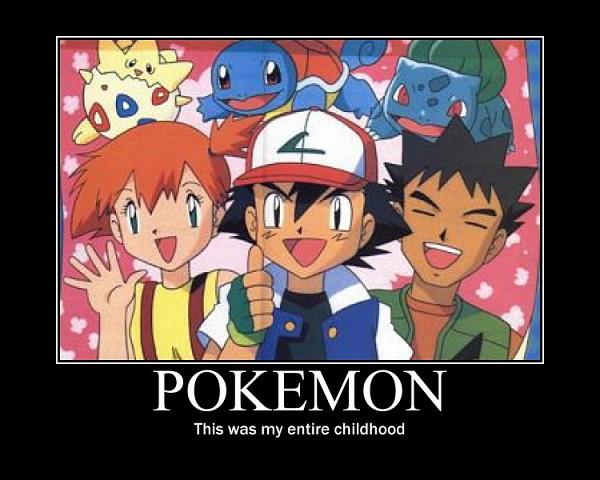 Tags: Anime, Pokémon, Takeshi (Pokémon), Bulbasaur, Satoshi (Pokémon), Squirtle, Togepi, Kasumi (Pokémon), Thumbs Up, Demotivational Poster