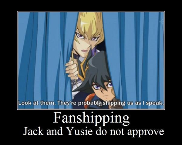 Tags: Anime, Yu-Gi-Oh! 5D's, Yu-Gi-Oh!, Yusei Fudo, Jack Atlas, Subtitled, Screenshot, Demotivational Poster, JaYuu